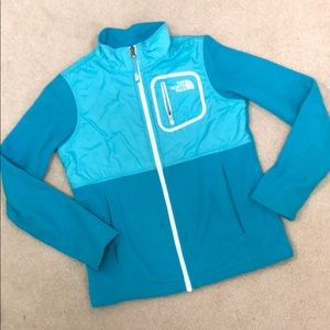 The North Face Teal Fleece Jacket Girls 10/12